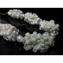 Collar Swarovski Cristal, Perlas-murano-seda,plata De Hermo