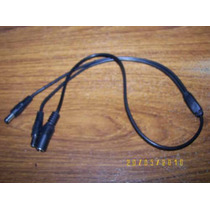 Adaptador 1 A 2 Conexiones De Correinte Cam Cctv