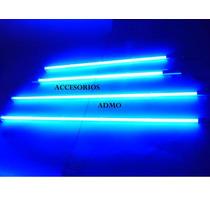 Kit De 4 Barras Neon Azul Para Auto Tuning