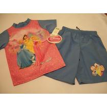 Traje De Baño Para Niña Bebe Princesas Disney 3 Años