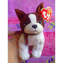 Ty Beanie Babies Peluche De Perrito Chato Cafe Y Blanco
