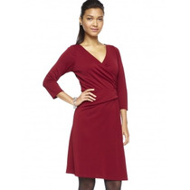 Vestido Wrap Color Rojo Y Cafe Talla Extra Marca The Limited