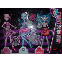 Monster High -baile Espeluztastico Draculaura Abbie Ghoulia