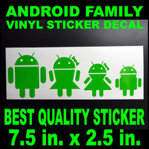 Sticker Android Google Os Familia Android, Diseño Especial