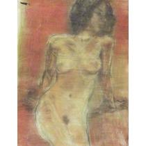 Antonio Albanes Garcia Pastel Firmado. Mujer Sentada