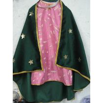 Hermoso Vestido Disfraz Virgen De Guadalupe Traje Tunica