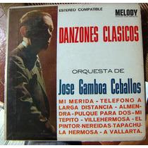 Bolero, Jose Gamboa Ceballos, Danzones Clasicos, Lp 12´, Hwo