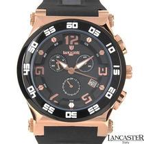 Reloj Lancaster Italiano, Cronógrafo Acero Poliuretano E Sp0