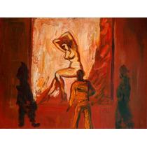 Luis Filcer Pintura Oleo Artista Pintando A Una Modelo 1990