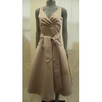 Vestido Marca Bgbg Paris Talla 6 Color Cafe Metalico