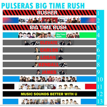 10 Pulseras Para Amarrar Big Time Rush, Btr, Carlos, James