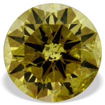 Diamante Amarillo Canario .18 Cts Vs2 Redondo Con Flechas