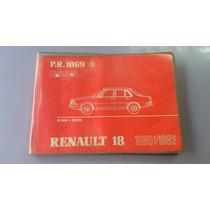 Renault 18 Catalogo De Partes 1980>1982