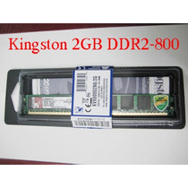 Memoria Ram 2 Gb, Ddr2 800 Mhz Pc2-6400 Kingston Para Pc