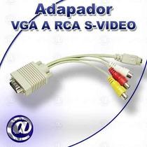 Cable Adaptador De Vga A Rca Supervideo Para Tv Nuevos!