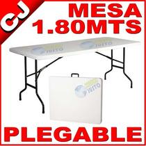 Mesa Plegable 180 Portafolio Plastico Termofusionado Fiestas