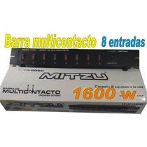 Barra Multicontacto Para 8 Aparatos 1600 W Nueva Empacada