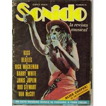 Revista De Rock Sonido Presenta A:kiss,beatles,janis Joplin