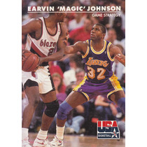 1992 Skybox Usa Earvin Magic Johnson Game Strategy Lakers
