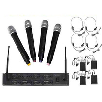Set 8 Microfonos Uhf Inalambricos Soundtrack Usa Stw-80hul