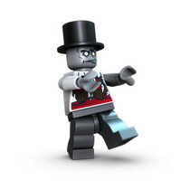 Lego Monster Fighters 9465 Novio Zombie Nuevo Con Sombrero