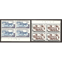 Congreso De Ferrocarriles 1963 Dos Block De 4 Folio Vbf