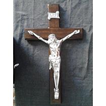Cristo,crucifijo En Pewter Aluminio Artesanal Regalo Adorno