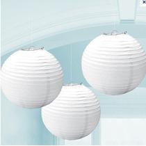 50 Lamparas Chinas Blancas De 40 X 40 Cms Decorativas Mn4