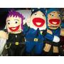 Gcg Lote De 3 Titeres Mujer Policia Niño Y Niña Rockeros Mn4
