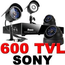 Kit Cctv Videovigilancia 4 Camara 600 Tvl Sony Acces Remota