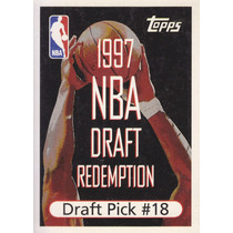 1997-98 Topps Draft Redemption Pick 18