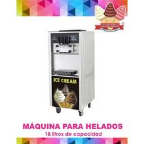 Máquina De Helado Suave O Yogurt, Dos Sabores Y Combinado.