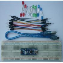 Arduino Nano + Usb + Proto + Cables + Leds (atmega328)