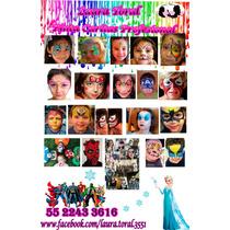 Pintacaritas Maquillaje Caracterizacion Fiesta Neón Xv Años
