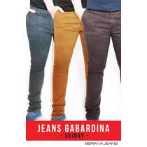 Jeans Caballero Corte Skinny Gabardina Colores1 -envíogratis