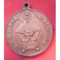 Medalla Mexico Virgen De Zapopan Antigua Cobre Excelente