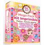 Kit Imprimible Oro - Invitaciones Fiesta Tarjetas Souvenirs