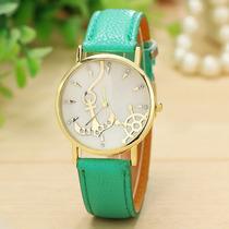 Hermosos Relojes Geneva Diamante Animal Print Floreados Wow