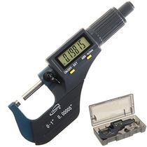 Igaging 0-1 Micrómetro Electrónico Digital W / Pantalla Gra