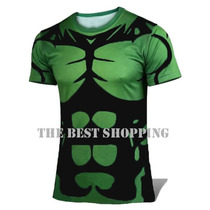 Playeras Compression Lycra Sport Hulk Batman Iron Importacio