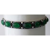 Pulsera-plata Hindu-jade Verde-flete Gratis