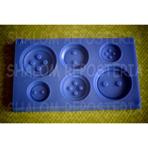 *mini Molde Tipo Silicon 6 Botones Lalaloopsy Fondant*