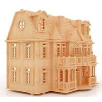 Casa De Muñecas Casa De Mdf Rompecabezas 3d Gmcm006