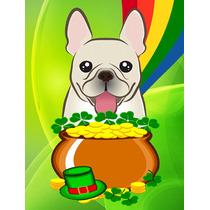 Bulldog Francés De San Patricio Día De La Bandera Tamaño
