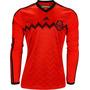 Playera Futbol Mexico Adidas Roja Manga Larga - Original