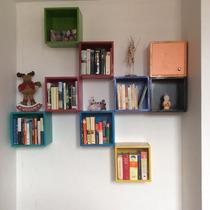 Kjon Achumecha! Cubo Librero Para Colocar En Pared.