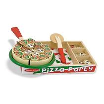 Pizza De Madera Juguete Melissa & Doug Niños Juego Mn4