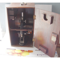 Antiguo Microscopio Aleman Winkei-zeiss Gottingen Nr 49331