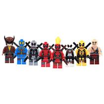 Set Sw1 Lady Deadpool Rojo Azul Blanco Amari Compatible Lego