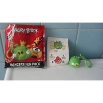 5 Llaveros Angry Birds Red Orange Minion King Helmet Pig Pm0
